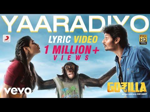 Gorilla - Yaaradiyo Tamil Lyric   Jiiva, Shalini Pandey   Sam C.S.
