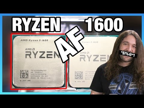 New AMD Ryzen 5 1600 AF CPU Review & Benchmarks vs. Original, R5 2600, & 3600