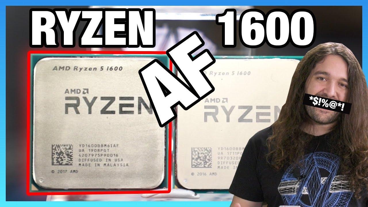 New AMD Ryzen 5 1600 AF CPU Review & Benchmarks vs. Original. R5 2600. & 3600 | BlogTubeZ