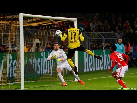 Download Gol De Aubameyang 3-0 Borussia Dortmund vs Benfica Champions League 08/03/2017