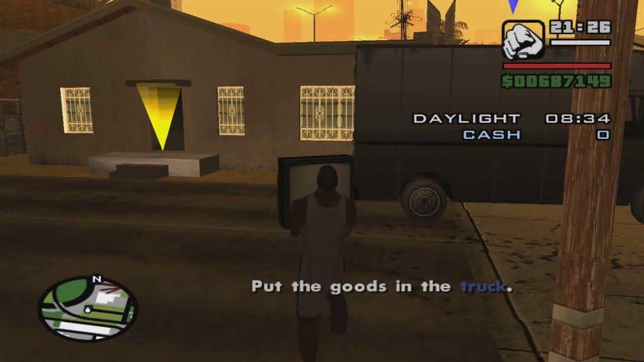 Gta San Andreas Burglary Missions 56 Items Youtube
