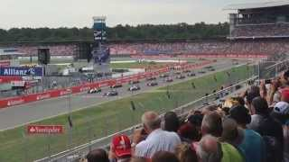 2014 German Grand Prix start (Massa/Magnussen crash) Nordtribüne A
