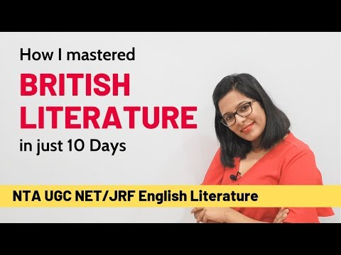 Learn How I Mastered British Literature In 10 Days (UGC NET English)