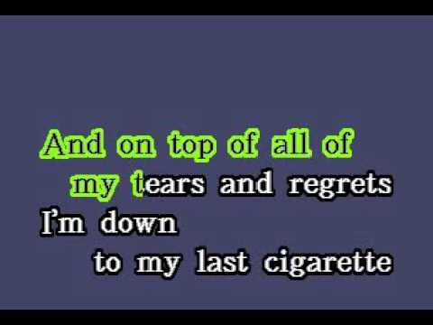 DK091 02   Lang, K D    I'm Down To My Last Cigarette [karaoke]
