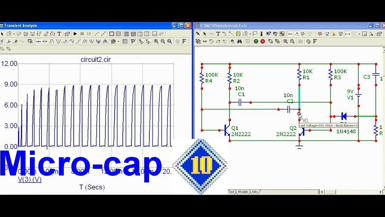 How To Simulate An Astable Multivibrator Circuit Using