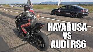 Suzuki Hayabusa Turbo vs Audi RS6 C6 Sedan