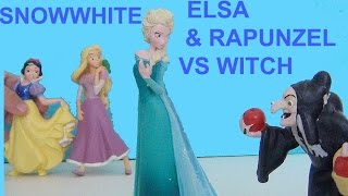 Snow white vs Elsa. Rapunzel and Elsa is kissing Snow White. Elsa Pamuk Prensesi öpüyor
