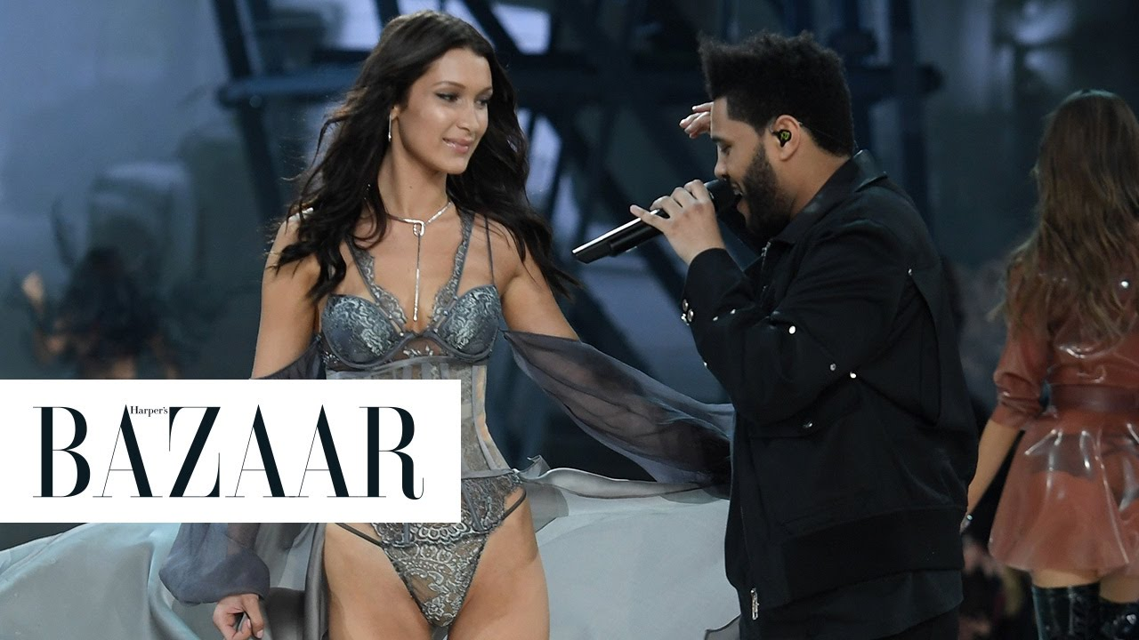 b4ae7f2eb6d Bella Hadid   The Weeknd Reunited on the Victoria s Secret Runway - YouTube