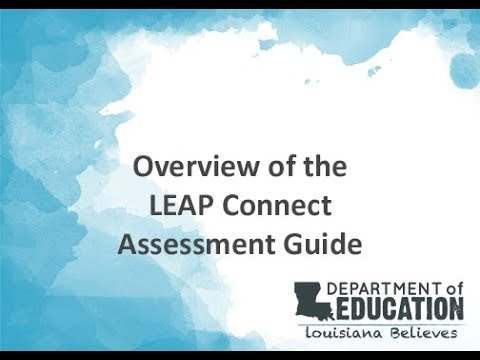 Overview of the LEAP Connect Assessment Guide