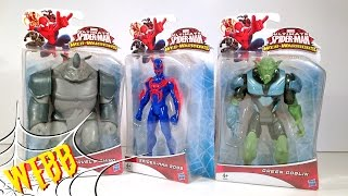 ULTIMATE SPIDER-MAN Web Warriors SPIDER-MAN 2099 RHINO & GREEN GOBLIN Review