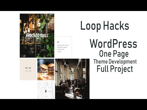 wordpress loop hacks one page theme development full project thumbnail