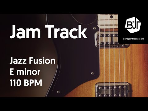 Jazz Fusion Jam Track in E minor 110 BPM