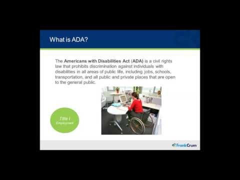 Webinar: Americans with Disabilities Act Fundamentals