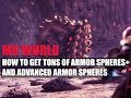 MONSTER HUNTER WORLD - HOW TO GET TONS OF ARMOR SPHERES + AND ADVANCED ARMOR SPHERES