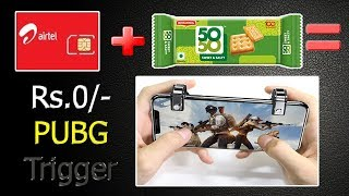 PUBG Trigger make Trick with 50-50 Biscuit packet and SIM card body