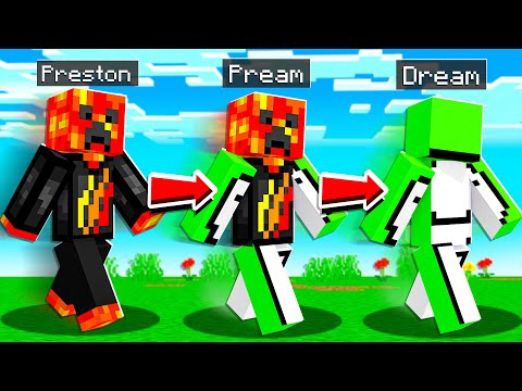 Minecraft But You Shapeshift into a YouTuber Every Minute...