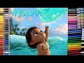Disney princess of the pacific moana coloring book coloring page kids fun art learning for kids mp3