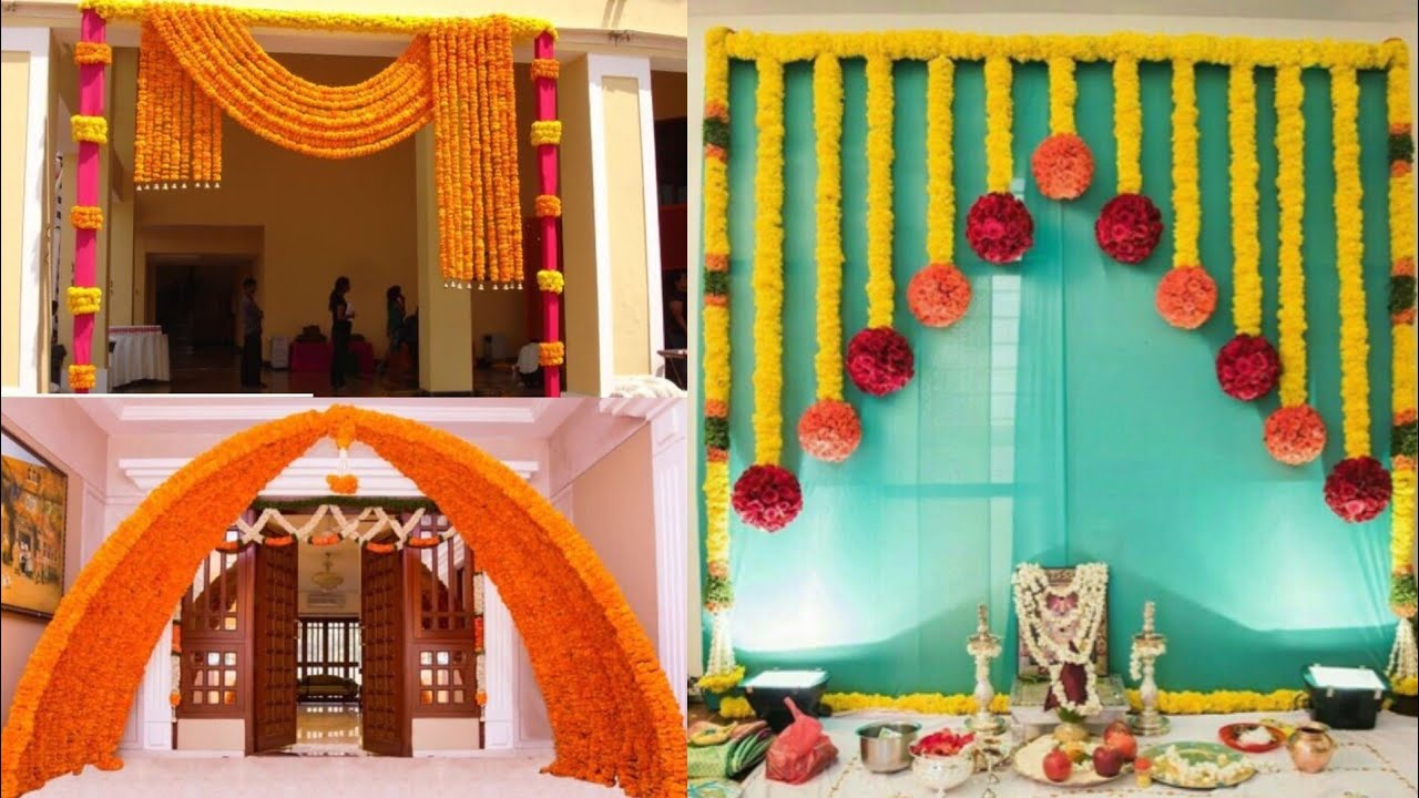 Best and cheap new style wedding decoration ideas/mehendi, Sangeet home  decoration design