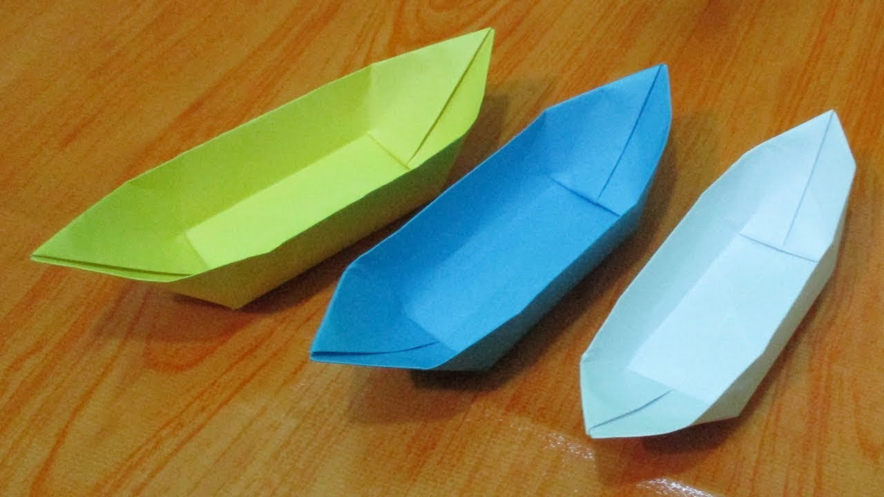 origami how to make easy paper boat origami diy