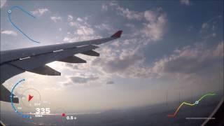 GOPRO Hero 5 - GPS: Rückflug/Return from New York JFK to Berlin Tegel mit der AirBerlin am 17.4.2017