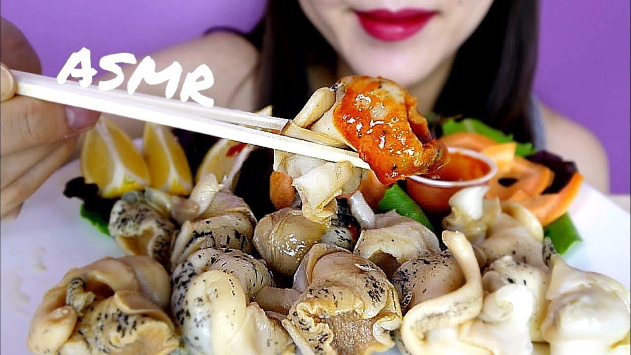 Asmr Whelks Eating Sounds Eating Show No Talking Mukbang Yoojin Eats