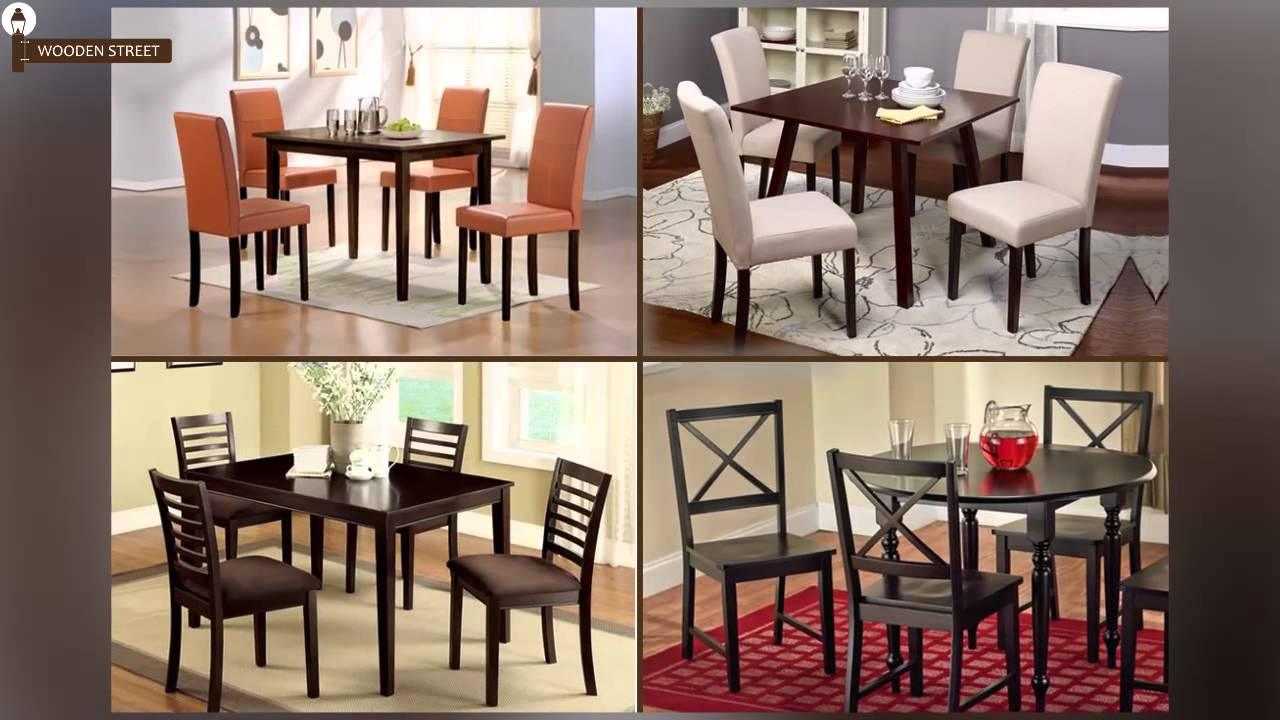 Dining Table Sets - 4 Seater Dining Table Set Online @ Wooden Street - YouTube & Dining Table Sets - 4 Seater Dining Table Set Online @ Wooden Street ...