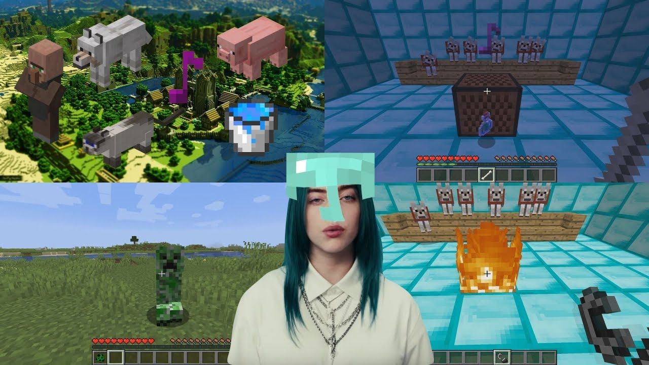 Billie Eilish - bad guy, using only minecraft sounds