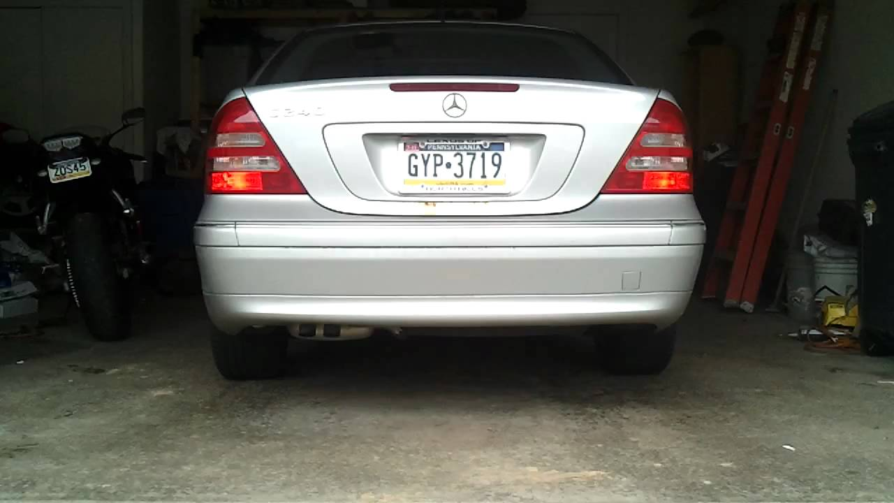 W203 tail light problem 2001 c240 youtube for Mercedes benz brake light problem