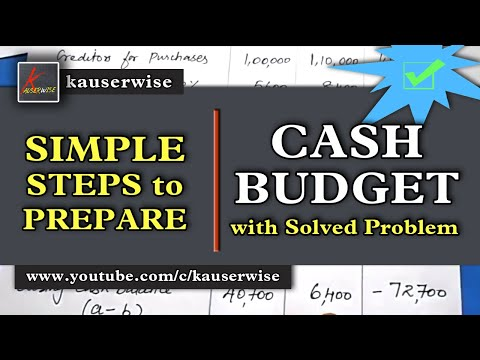Cash Budget (with solved problem) in management accounting t