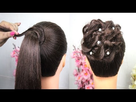 Quick & Easy Messy Bun Hairstyle With Tricks || Hairstyle For Girls || Messy Bun || Hairstyles thumbnail