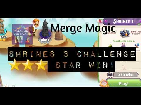 Merge Magic Challenge Shrines 3 Purple Star Win!
