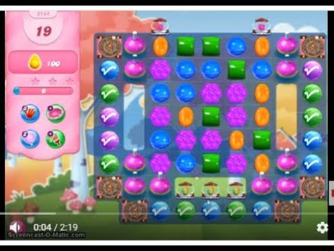 Candy Crush Saga Level 3144 No Boosters