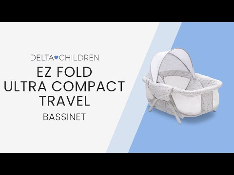 950afc8df08 EZ Fold Ultra Compact Travel Bassinet (by Delta Children) - YouTube