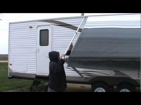 A&E SUNCHASER II AWNING DEMONSTRATION - YouTube