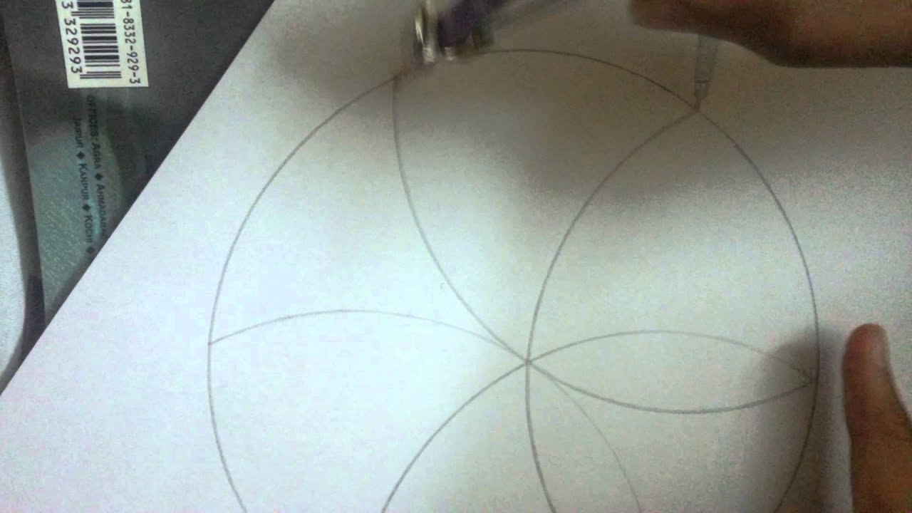 Make A 6 And 12 Petal Flower Using Compass Youtube