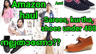 Amazon haul|affordable Saree, salwar, kurtha & Shoes|Online shopping Review in malayalam|Asvi