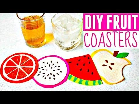 DIY FRUIT COASTERS | How to Make Felt Coasters | DIY Gifts