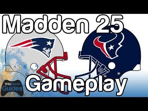 Madden 25 Gameplay Patriots vs Texans Tim Tebow vs Matt Schaub New England vs Houston