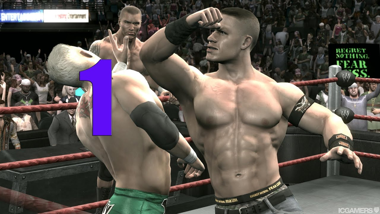 WWE Smackdown vs Raw 2009 JOHN CENA PART 1 ROAD TO