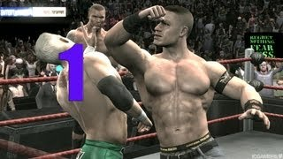 WWE Smackdown vs Raw 2009 JOHN CENA PART 1 ROAD TO WRESTLEMANIA