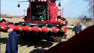case ih 2366 combine geringhoff corn head case ih bean head