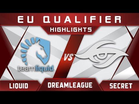 Liquid vs Secret DreamLeague Major 2017 EU Highlights Dota 2