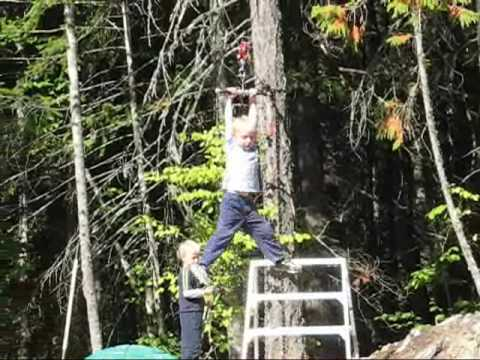 Zip Lines For Backyards simple backyard zipline - youtube