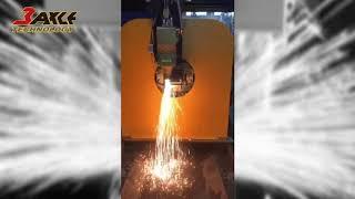 〔光纖雷射金屬板管切割機〕TAHG 3015E 22Q 槽鋼切割。板管一體機