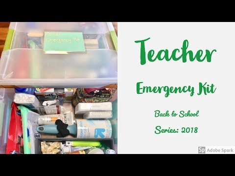 Teacher Emergency Kit // Back To School Series 2018