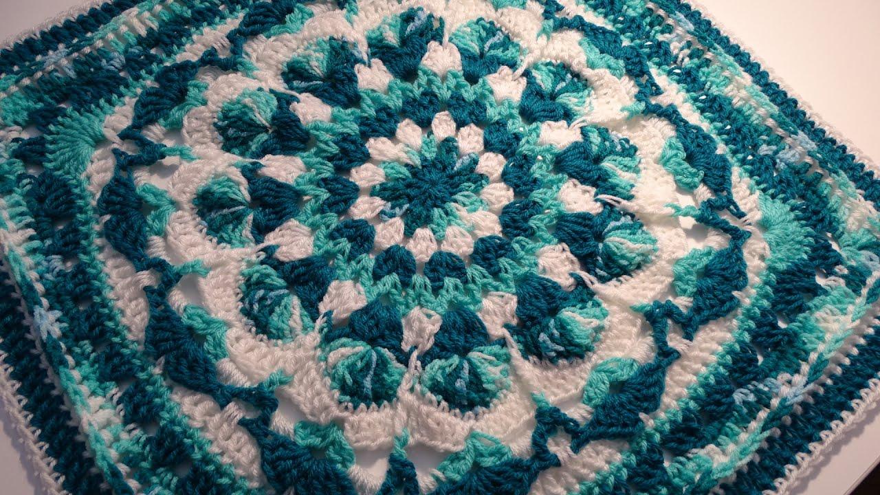 Crochet Mandala Square Youtube