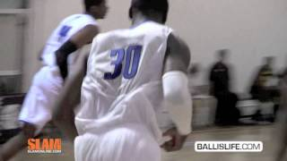 "Julius randle ""flys in"" for a monster dunk at the nike eybl"