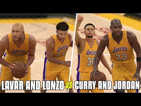 LAVAR AND LONZO BALL VS STEPHEN CURRY AND MICHAEL JORDAN! NBA 2K17 GAMEPLAY!