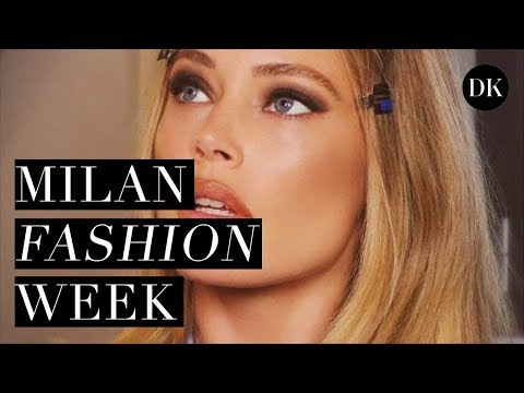 BACKSTAGE AT MILAN FASHION WEEK & THE VERSACE AFTER PARTY • DOUTZEN DIARIES