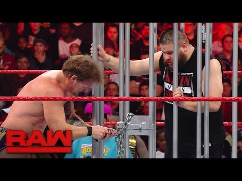 Thumbnail: Kevin Owens is released from the shark cage: Raw, Jan. 23, 2017